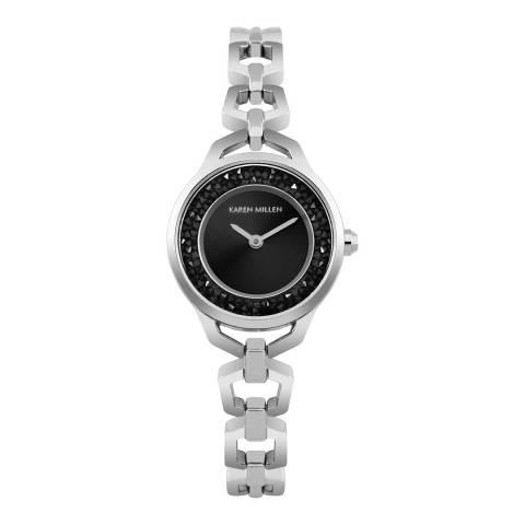 Karen Millen Silver Link Bracelet Watch