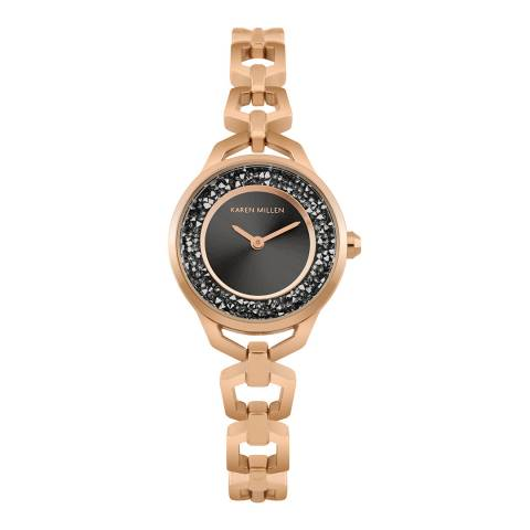 Karen Millen Gold Sparkle Link Bracelet Watch