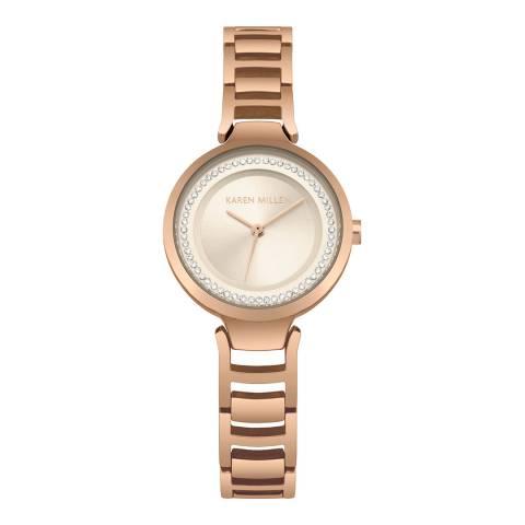 Karen Millen Gold Link Bracelet Watch