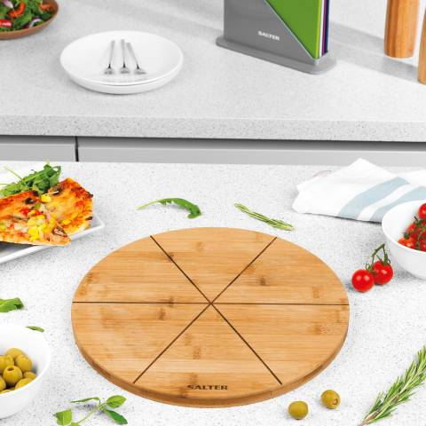 Salter 6 Slice Bamboo Pizza Serving Board