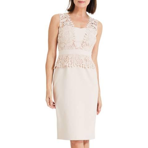 Phase Eight Beige Harmony Lace Dress