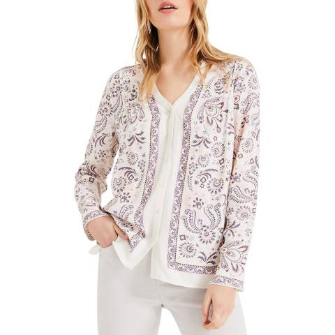 Phase Eight Ivory Paisley Asha Blouse