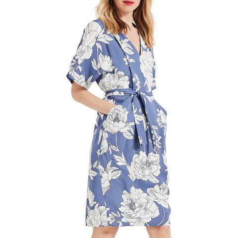 Phase Eight Blue/Ivory Floral Malika Dress