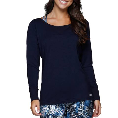Lorna Jane Ink Cascade Active Long Sleeve Top