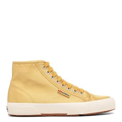 Superga Mustard Yellow 2493 High Cut Satin Sneakers