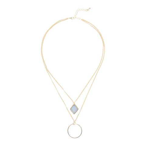 Phase Eight Gold Bridget Charm 2 Row Necklace