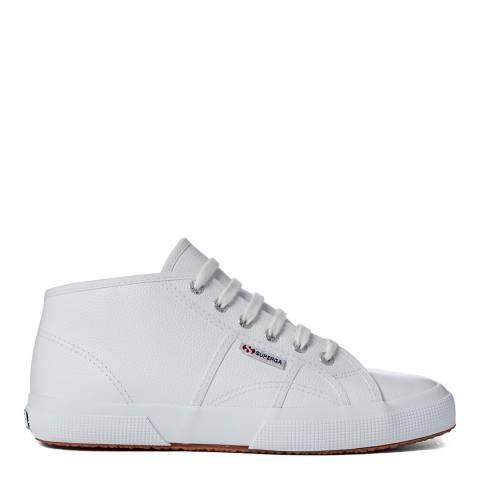Superga White Leather Hi Top Unisex Sneaker