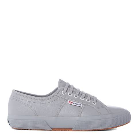 Superga Grey 2750 Leather Low Unisex Trainers