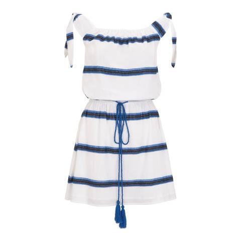 Pampelone White/Navy Beso Mini Dress