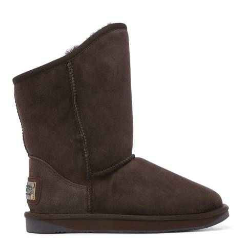 Australia Luxe Collective Choc Cosy Short Nappa Ankle Boots