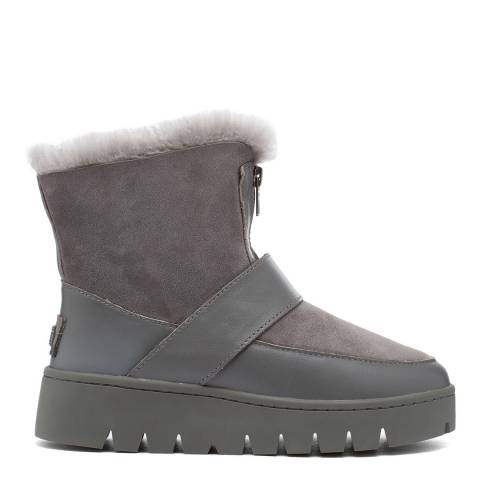 Australia Luxe Collective Grey Campaign Double Faced Ankle Boots