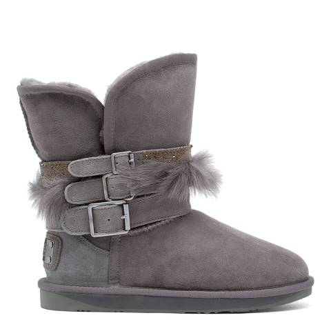 Australia Luxe Collective Grey Hatchet Short Ankle Boots