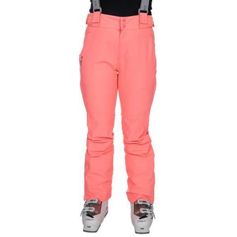 DLX Women's Neon Coral Jacinta Ski Pants
