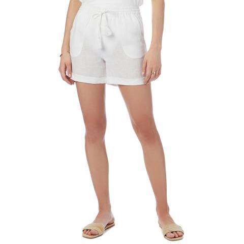 N°· Eleven White Linen Short