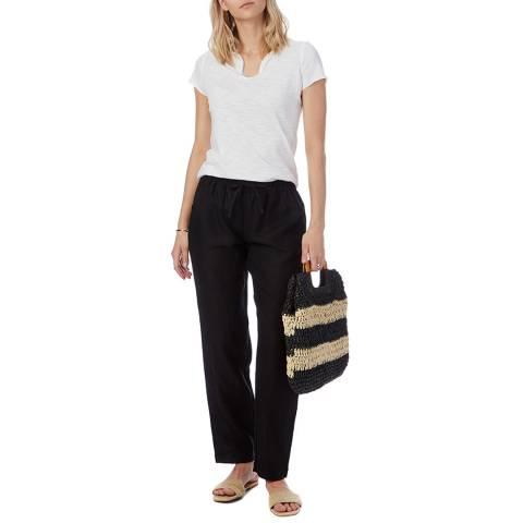 N°· Eleven Black Linen Trouser