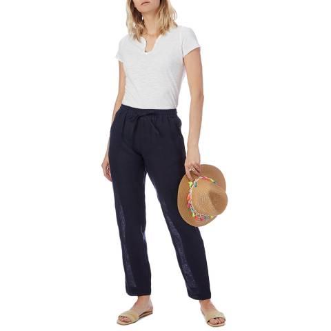 N°· Eleven Navy Linen Trouser