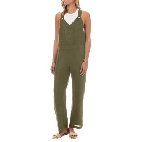 N°· Eleven Khaki Linen Jumpsuit