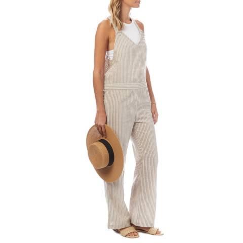 N°· Eleven Oatmeal Stripe Linen Jumpsuit