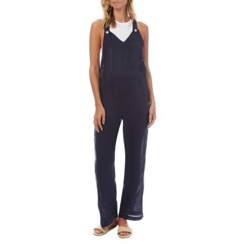 N°· Eleven Navy Linen Jumpsuit