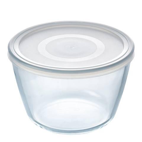 Pyrex Set of 4 Round Dishes with Lid, 1.6L