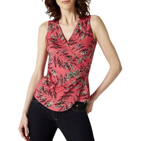 Damsel In A Dress Coral Print Bria Jersey Top
