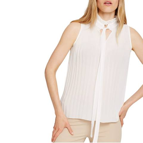 Damsel In A Dress Ivory Mona Pleat Blouse