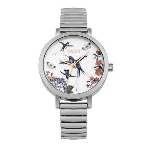 Oasis Silver Printed Dial Bracelet Watch