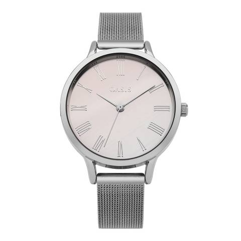 Oasis Silver Ombre Dial Mesh Watch