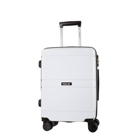 Travel One White Caminera 8 Wheel Suitcase 50cm
