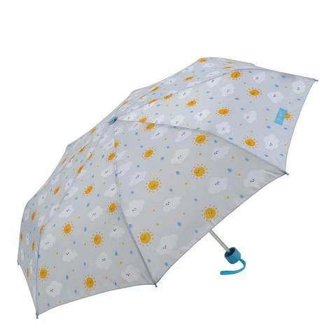 Mister Wonderful White Weather Folding Umbrella