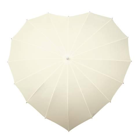 Falconetti Cream Heart Umbrella