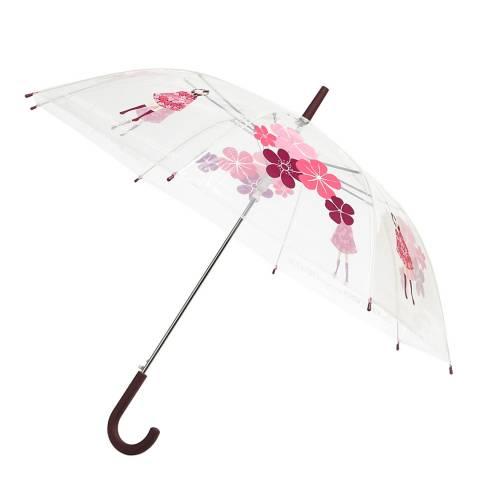 Derrière la porte Transparent / Pink Flower Birdcage Umbrella