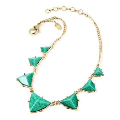 Amrita Singh Turquoise Geometric Resin Necklace