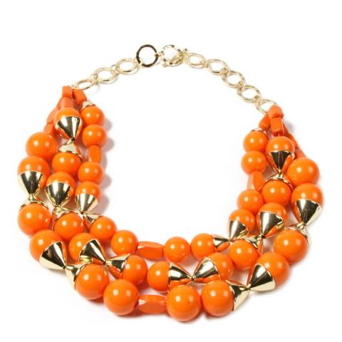 Amrita Singh Orange Resin Bead Necklace