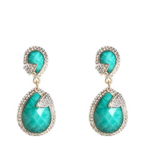 Amrita Singh Turquoise Silver Drop Earrings