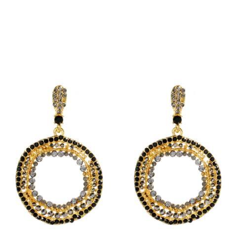 Amrita Singh Gold Austrian Crystal Crircle Earrings