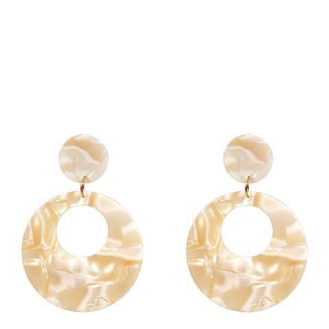 Amrita Singh Ivory Resin Circle Earrings