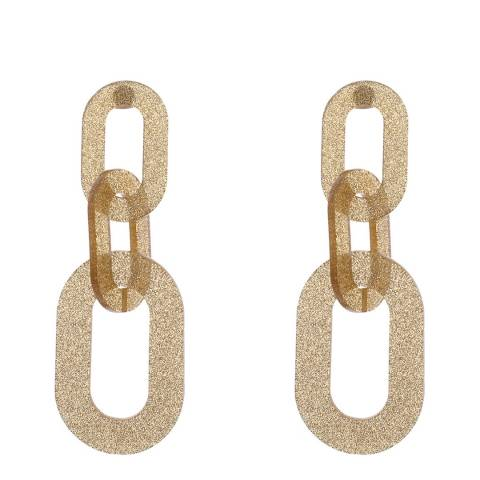 Amrita Singh Gold Rectangle Chain Link Earrings