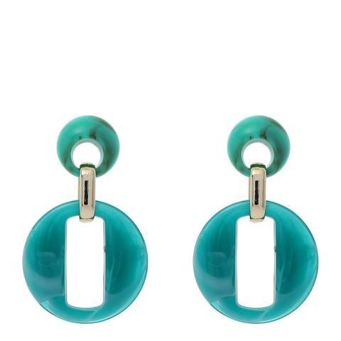 Amrita Singh Turquoise Drop Circle Earrings