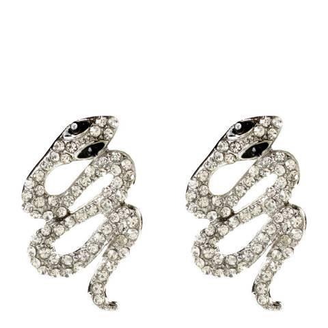 Amrita Singh Silver Crystal Snake Earrings