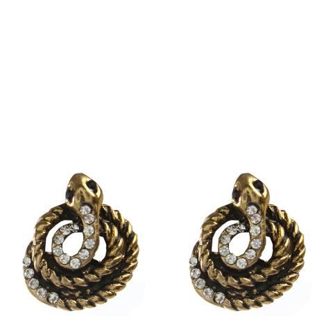 Amrita Singh Antique Gold Snake Stud Earrings