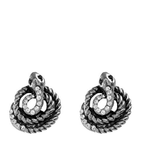 Amrita Singh Antique Silver Snake Stud Earrings