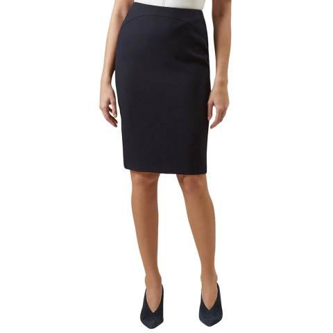 Hobbs London Navy Kora Skirt