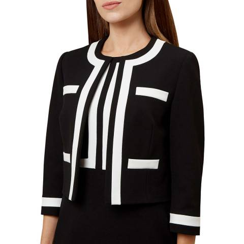 Hobbs London Black/Ivory Jackie Jacket
