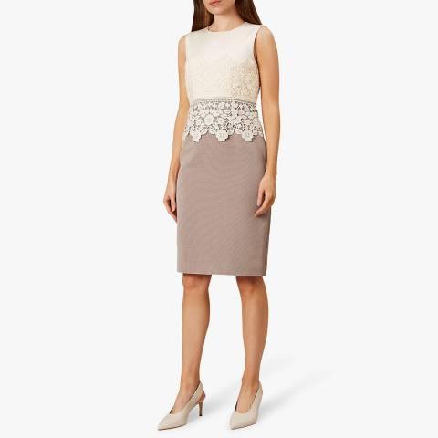 Hobbs London Pink/Black Seraphina Dress