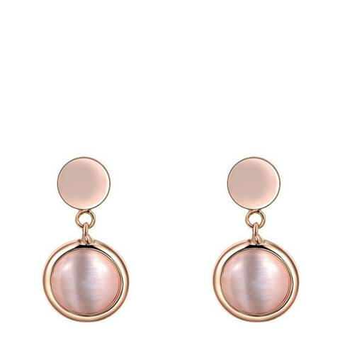 Ma Petite Amie Rose Gold Plated Round Cat Eyelet Earring