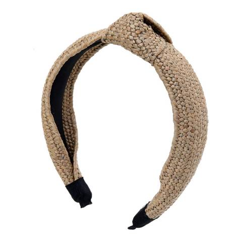 Amrita Singh Beige Woven Headband