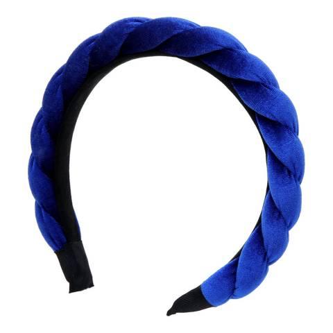 Amrita Singh Blue Velvet Headband