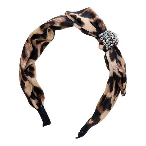 Amrita Singh Brown Animal Print Headband
