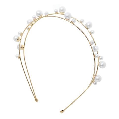 Amrita Singh Gold Pearl Headband